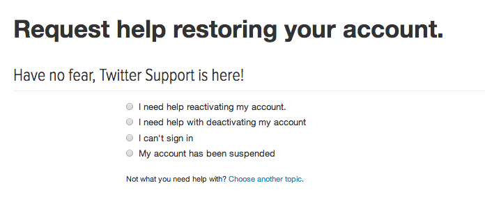 restore suspended twitter account