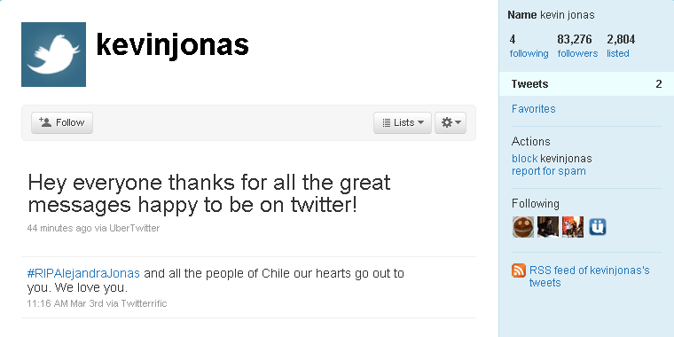 Kevin Jonas Joined in on the Twitter Parade