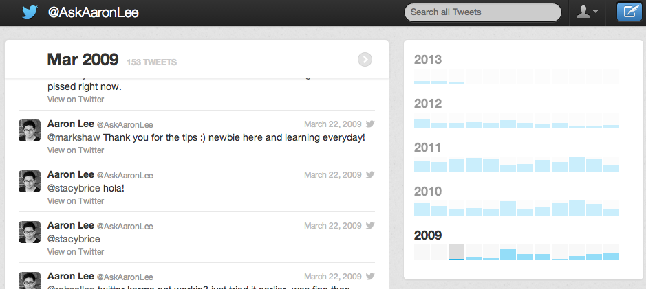 How to find your first tweet on twitter
