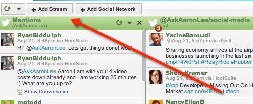 add stream twitter lists